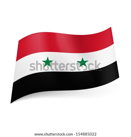Green National Flag National Flag of Syria Red