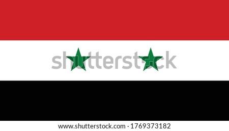 National flag of Syria. Vector illustration, Vector of syria flag. EPS, Vector, illustration. Stockfoto ©
