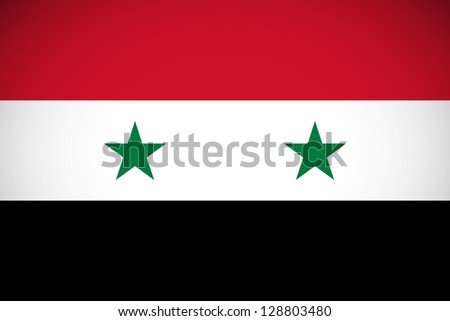 national flag of syria with