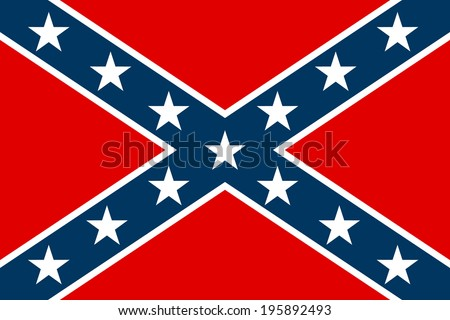 National flag of the Confederate States of America - vector illustration. Сток-фото ©