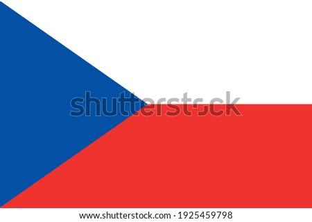 National flag of the country Czech Republic. Czech flag. State symbol. Independence Day. Victory Day. Parliamentary republic. Elections. Europe. Stock photo ©