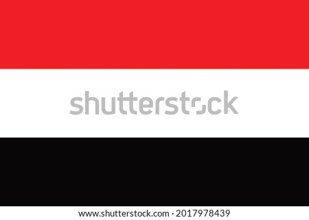 National flag of the country of Southwest Asia Yemen. State symbol of Yemen. National holiday. Presidential republic. Political elections. Arabian Peninsula.