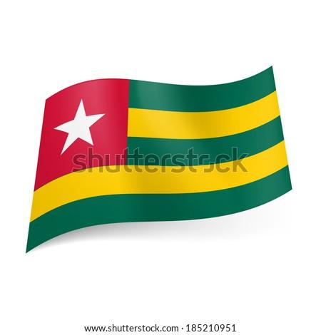 National Flag Green White Red National Flag of Togo Green