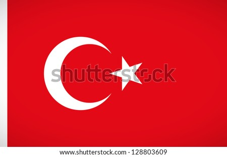 National flag of Turkey with correct proportions and color scheme
