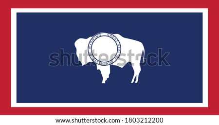 National flag of Wyoming, Vector illustration, Vector of Wyoming Flag.  ストックフォト ©