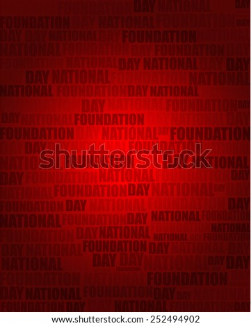 National Foundation Day with same text on red gradient background.
