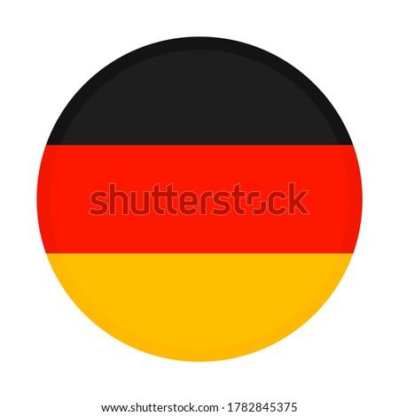 National Germany flag circle on white background. ストックフォト ©