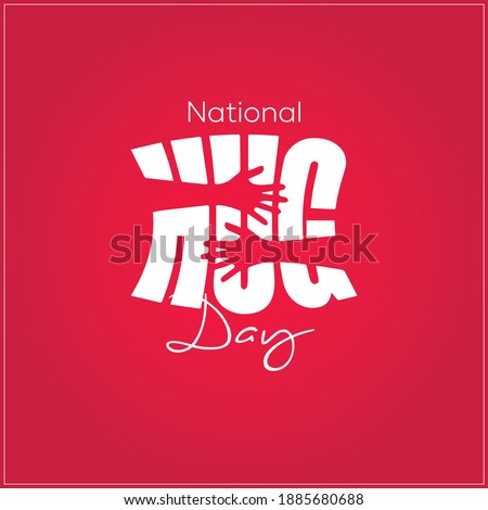 National Hug day. this concept typography hugging