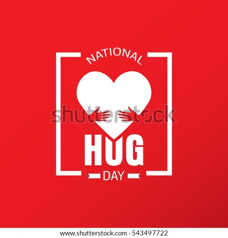 national hug day vector