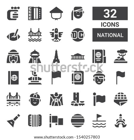 national icon set collection