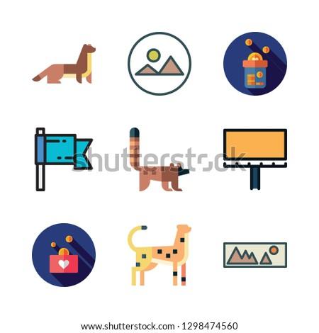 national icon set vector set