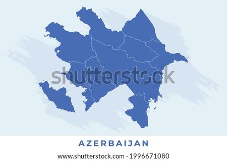 National map of Azerbaijan, Azerbaijan map vector, illustration vector of Azerbaijan Map.