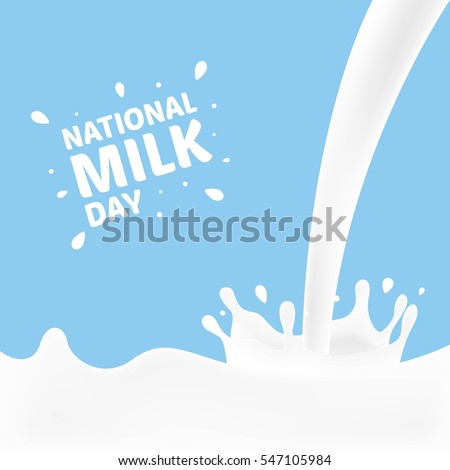 national milk day vector