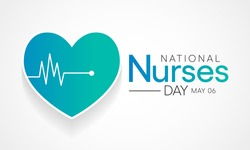 National Nurses day is observed in United states on 6th May of each year, to mark the contributions that nurses make to society. Vector illustration.