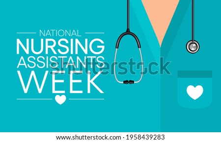 National Nursing assistants week is observed every year in June, The main role of a CNA is to provide basic care to patients and help them with daily activities. vector illustration. Stock fotó ©