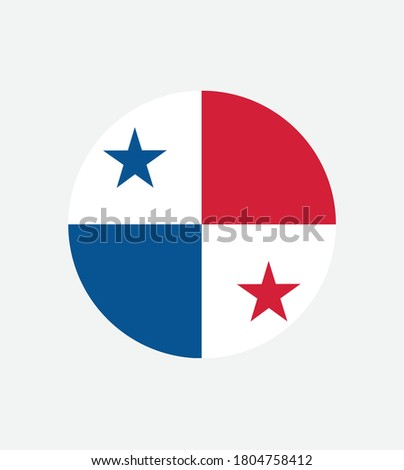 National Panama flag official colors and proportion correctly. National Panama flag  Vector illustration. EPS10. Panama flag vector icon, simple, flat design for web or mobile app.