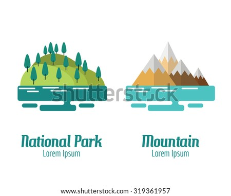national park and mountain