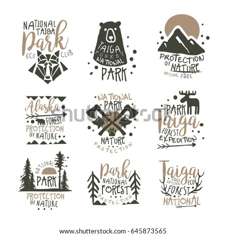 national park eco club labels
