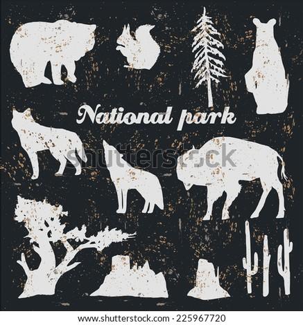 national park vintage hand