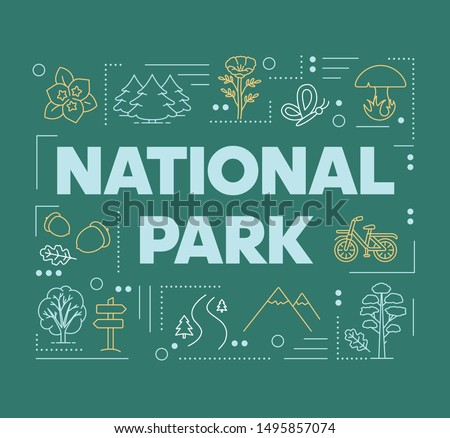 national park word concepts