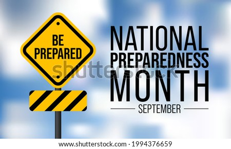 National Preparedness month (NPM) is observed every year in September,  to promote family and community disaster planning now and throughout the year. vector illustration Photo stock ©