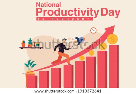 National Productivity Day design.National Productivity Day creative vector design.business growth creative design. Stock photo ©