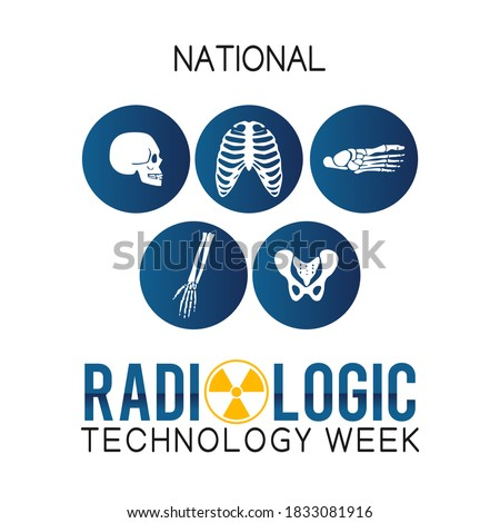National Radiologic Technology Week Vector Illustration. Suitable for greeting card, poster and banner. Foto stock ©