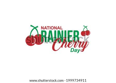 national rainier cherry day