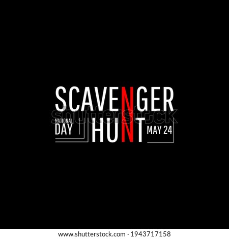 National Scavenger Hunt Day. Geometric design suitable for greeting card poster and banner Сток-фото ©