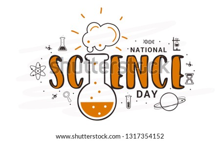 National Science Day Poster Or Banner Background.
