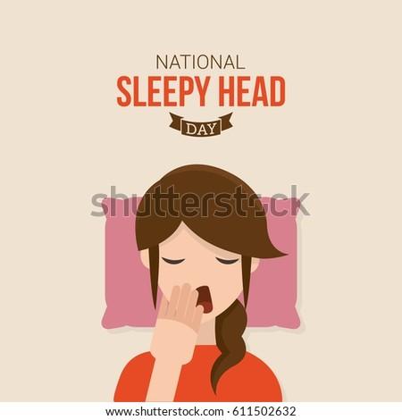 national sleepy head day vector