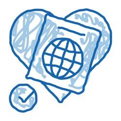 national tolerance sketch icon vector. Hand drawn blue doodle line art national tolerance sign. isolated symbol illustration