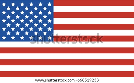 National United State of America (USA) flag. Vector illustration. #668519233