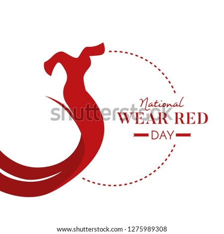 National Wear Red Day Illustration