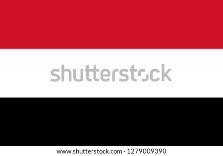 National Yemen flag, official colors and proportion correctly. National Yemen  flag. Vector illustration. EPS10. Yemen flag vector icon, simple, flat design for web or mobile app