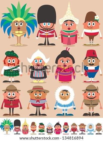 nationalities part 2  set of 12