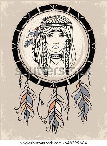 native american girl and