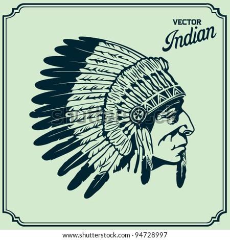 Native American Head
