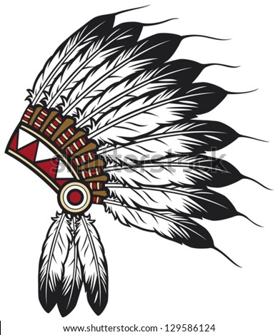 american indian chief headdress (indian chief mascot, indian tribal ...