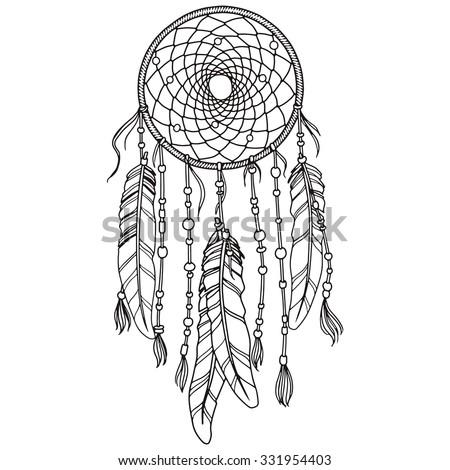 Native American Indian dream-catcher Foto stock ©
