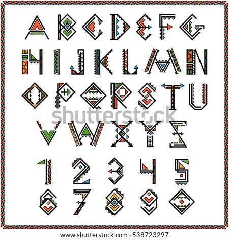 native american indian font or