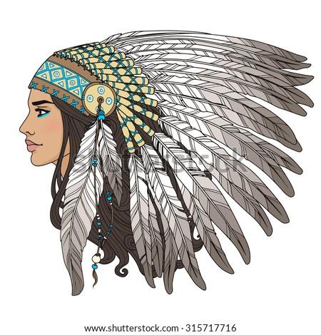 2,977 Indian Headdress Illustrations, Royalty-Free Vector Graphics & Clip  Art - iStock