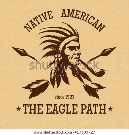 native american indian vintage