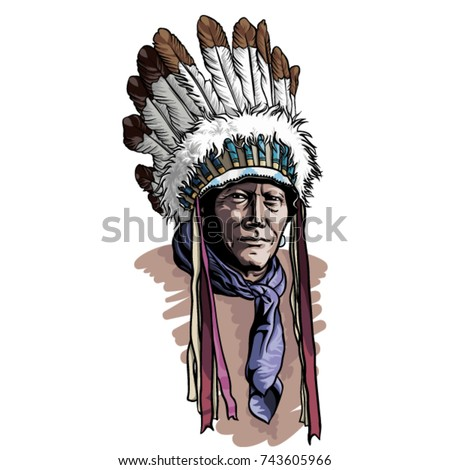 native american portrait with