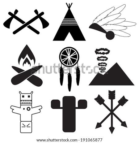 Indian Native American Icons Download Free Vector Art Stock