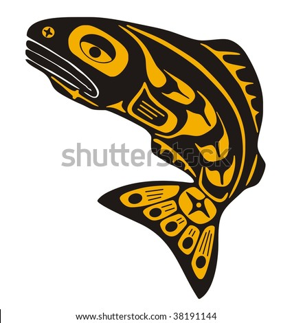 Native fish Vector - stock vector