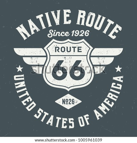 Native Route - Tee Design For Print
