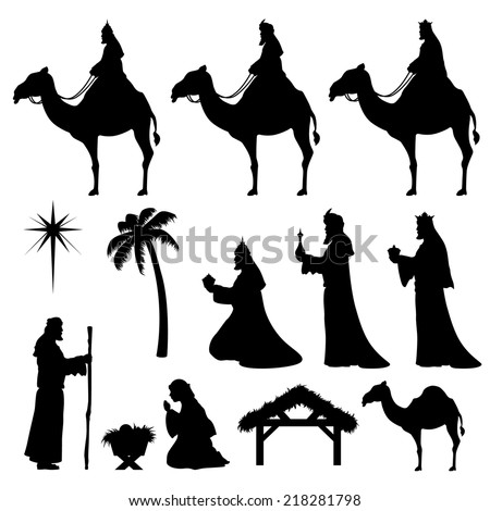 nativity and wise men icons