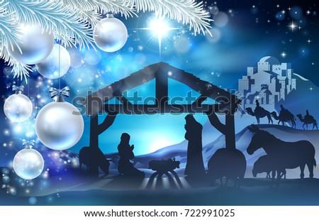 nativity christmas illustration