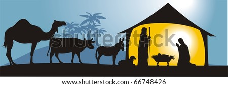 nativity scene in vector format